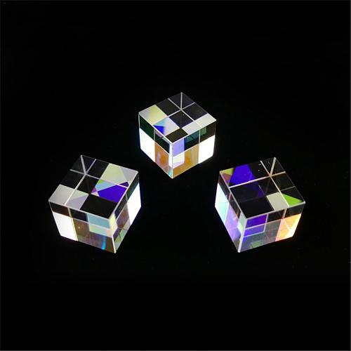 12.7*12.7*12.7mm Six-Sided Bright Light Combine Cube Prism Stained Glass Beam Splitting Prism Optical Experiment Instrument