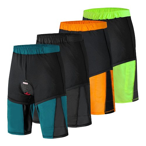 WOSAWE Men's Downhill Shorts Cycling Shorts With Non-Removable Padded Underwear Bike MTB Shorts Loose Fit Outdoor Bicycle Shorts