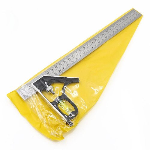 New Hot 300mm(12 )Adjustable Engineers Combination Try Square Set Right Angle Ruler