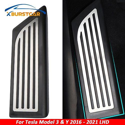 Xburstcar Car Foot Rest Pedal Cover Parts Footrest Pedals Accessories for Tesla Model 3 Model3 Model Y ModelY 2016 - 2021 LHD