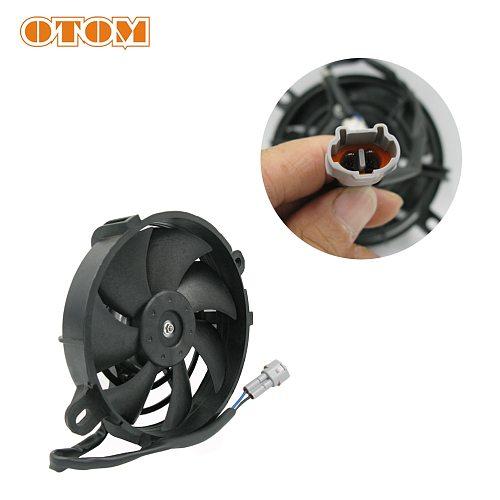 OTOM Universal Motorcycle Radiator Cooling Fan Oil Cooler Water Cooler Electric Fan 4inch 5inch For All Dirt Bike Motocross ATV
