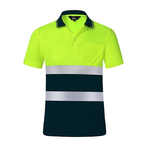 Protective Motorcycle Night Reflective Safety Shirt Clothing Quick Dry Short Sleeved T-shirt Protective Clothes hi vis Workwear