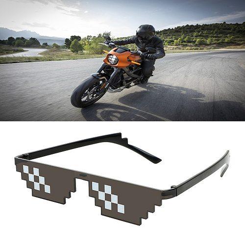 3/6 Bit Thug Life Sunglasses Pixelated Men Women Brand Party Eyeglasses Mosaic UV400 Vintage Eyewear Unisex Gift Toy Glasses