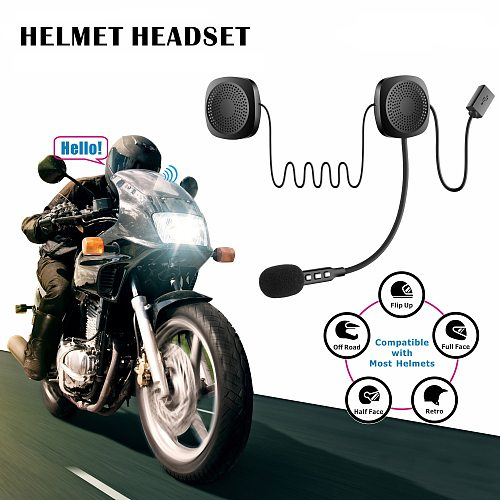 BT 4.2 Chip 50M 110dB Wireless Motorcycle Scooter Helmet Headset Headphones With bluetooth Function Hands Free Talking Intercom