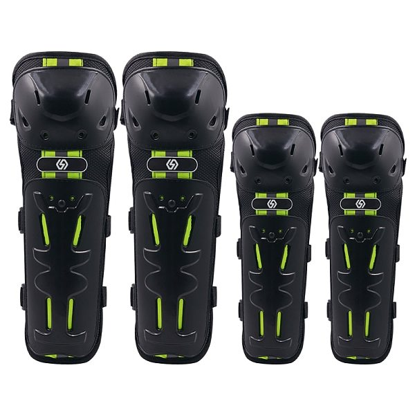 4PCS Motorcycle Knee Pads Elbow Leggings Motocross Cycling Night Reflective Safety Windproof Shatter-Resistant Protective Equip