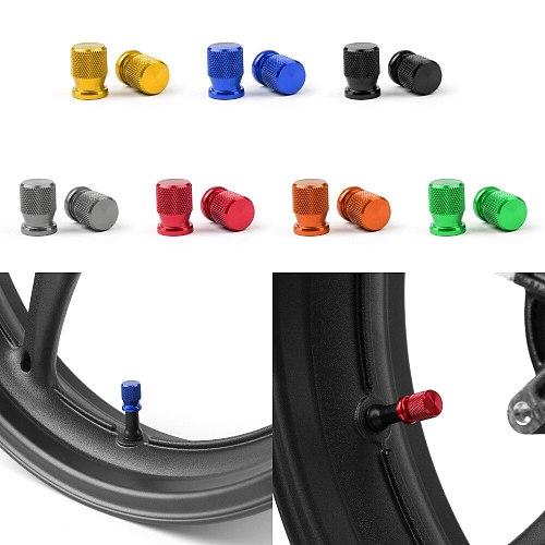 Areyourshop Motorcycle CNC Tire Valve Wheels Stem Pressure Dust Caps Screws For Universal Wheel Tire Valve Stem Cap Cover
