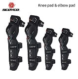 SCOYCO Motorcycle Protective Kneepads Moto Racing Knee Elbow Pads Protector Motocross Sports Protective Gear K11-2