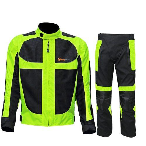 Riding tribe Summer Winter Motorcycle Breathable Mesh Moto Protective Jacket Men's Reflective Racing moto jackets Jersey Woman
