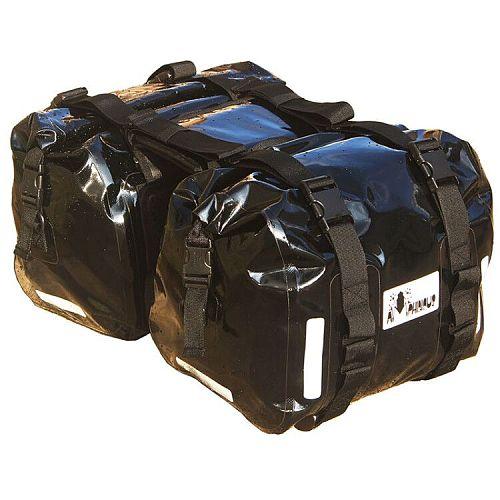 2 pcs Motorcycle Saddle Bag Waterproof Motorbike Side Bag Moto Motocross Helmet Backpack Luggage 60L
