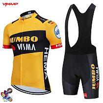 Fluorescent Green Jumbo Cycling Jersey sets red Bicycle MTB Short Sleeve Cycling Clothing Bike maillot Cycling Jersey Bib shorts