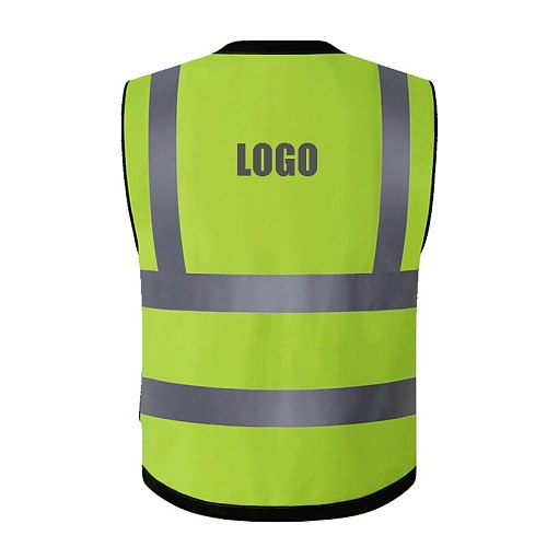 Motorcycle Jacket Reflective Vest High Visibility Night Shiny Warning Safety Coat for Traffic Work Cycling Team Uniform