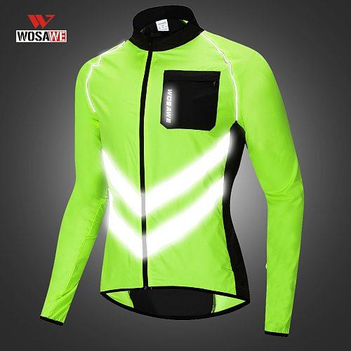 WOSAWE Reflective Vest Motorcycle Jacket High Visibility Jacket Neon Clothes Men Women Reflective Jacket colete refletivo Roupa
