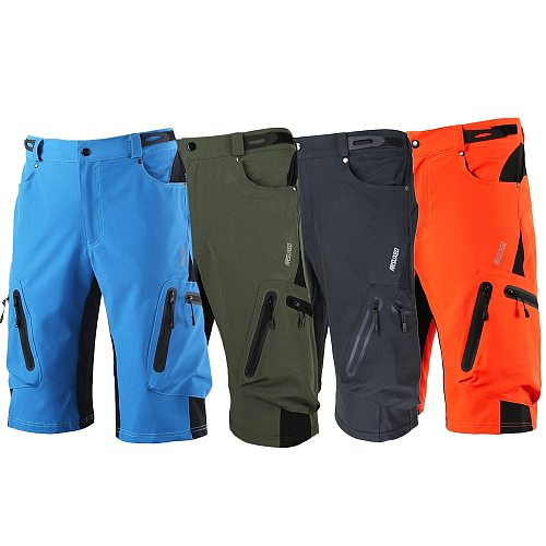 Lixada Men's Bike Shorts Breathable Loose Fit For Outdoor Sports Cycling Running MTB Mountain Bicycle Riding Trousers Shorts