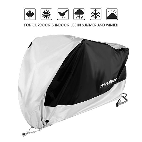 190T Motorcycle Waterproof Cover Outdoor Silver UV Sun Protector Scooter All Season Rain Dust Proof covers For BMW  XXXL XXL XL