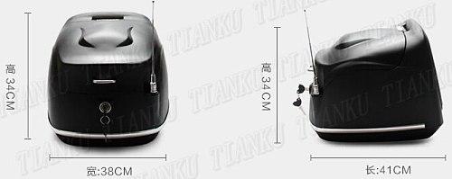 Motorcycle Matte black Hard Tail Box Storage Trunk For VStar 400 650 Virago Xv Road Star Shadow Steed Magna Vulcan Classic VN