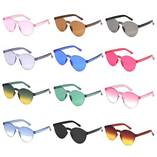 Candy Color Sunglasses Women Retro Pink Red Yellow Lens Colorful Shade Sun Glasses UV400