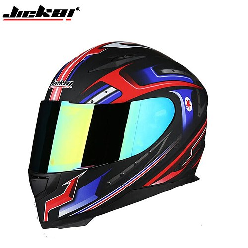 JIEKAI Motorcycle full face Warm Helmet Men's Winter scraf Moto Scooter Electric Casco motorbike Motos colorful visor Helmets