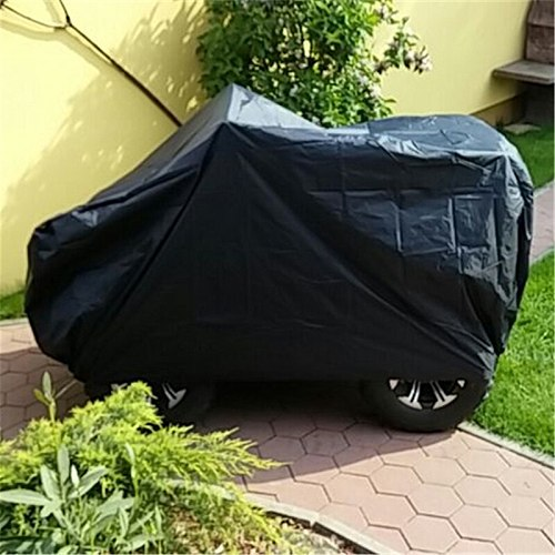 Quad Bike ATV Cover Black Waterproof Resistant Dustproof Anti-UV Motorcycle Vehicle Car ATV Covers Size up to 256*110*120cm