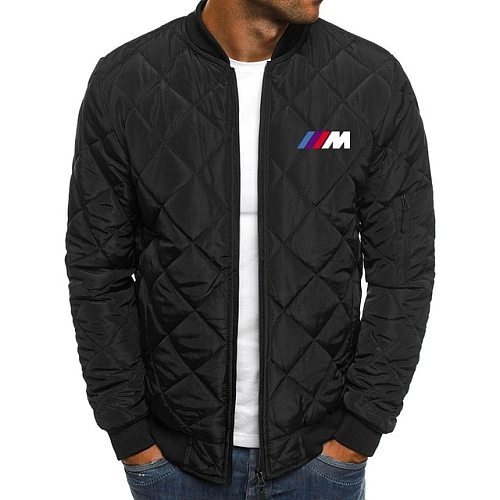 2020 Winter Men's Cotton-padded Jackets Solid Color riding for bmw Jacket Men Rhombus Seam Cotton Man Jackets Coat Overcoat H