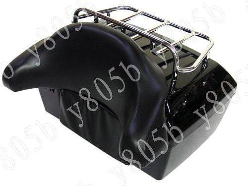 Motorcycle Trunk Tail Box Luggage With Top Rack Backrest For Suzuki Boulevard C50 Volusia 800 C90 M109R C109 Marauder Intruder