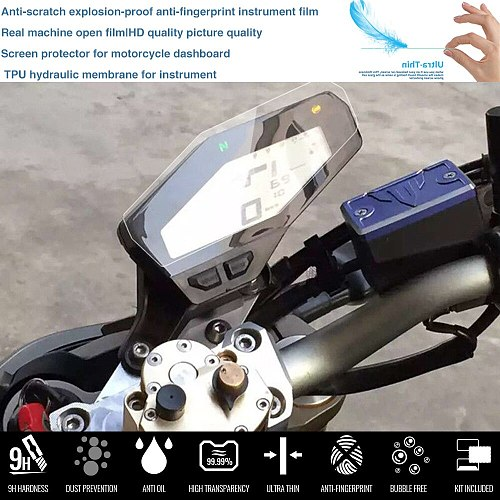 Motorcycle Cluster Scratch Protection Film Screen Protector For YAMAHA MT-09 FZ-09 2013-2018