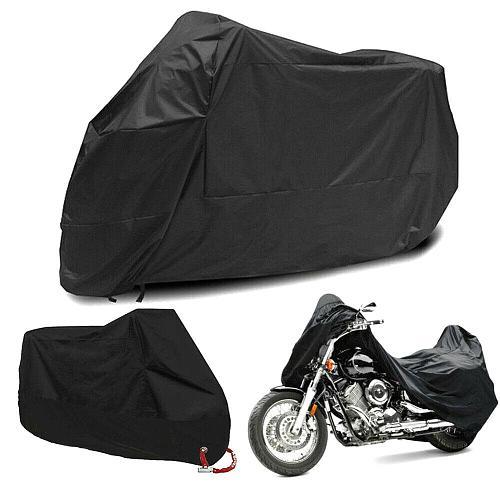 Outdoor Universal Motorcycle Cover Cloth M-4XL Waterproof Dustproof UV Protector All Season Bike Motor Motorbike Tarpaulin Lock