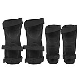 4PCs Motorcycle Elbow Guards Knee Pad Adjustable Racing Off-Road Protective For Motocross Cycling Skating Racing Protective Gear