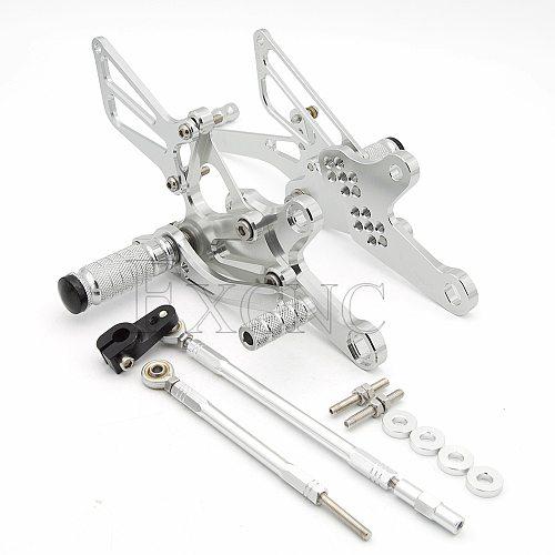 For Honda CBR150 CBR150R CBR125 CBR 125 2004-2010 Reversed Rearset Footpeg GP Shifter Adjustable Motorcycle Footrest Foot Peg