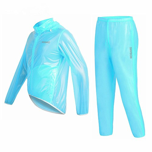 WOSAWE Racing Rain Coat Motorcycle rider Raincoat Sets Multi Function motocross Clothing Sets Motorcycle Rain jacket suits men