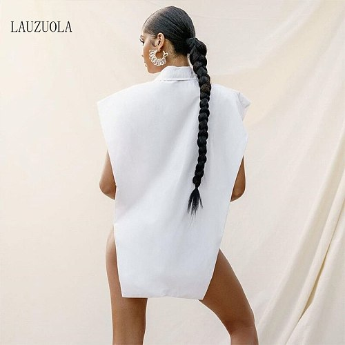 Irregular Sexy Cut Out Button Up White Shirt Women Summer Tops 2021 Fashion Batwing Sleeve Oversized Collared Shirts Y2K Blouses