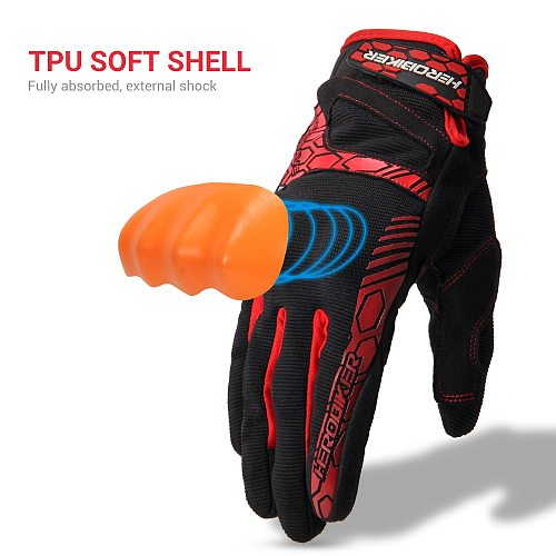 HEROBIKER Motorcycle Gloves Summer Breathable Guantes Moto Touch Screen Motocross Off-Road Gloves Motorbike Riding Gloves