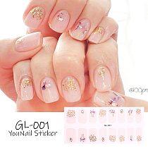 Christmas Dress Up Nail Stickers Self Adhesive Nail Sticker Minimalist Design Nails Art Decoration Nail Strips Shiny