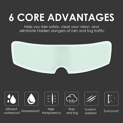 Multi-functional Anti Fog Film for Motorcycle Helmet Visor Nano Coating PET Practical Durable Classic Fog Resistant Film