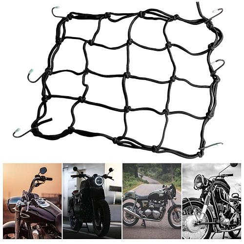 Motorcycle Luggage Net Bike 6 Hooks Hold down Fuel Bungee Black Web styling Hooks Bike Car Tank 6 Mesh Motorcycle Tank Lugg M6I6