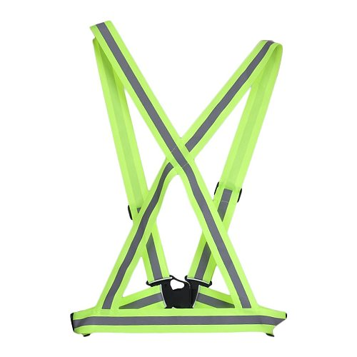 Highlight Reflective Straps Night Running Riding Clothing Vest Adjustable Safety Vest Elastic Band For Adults
