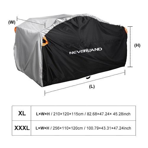 Beach ATV QUAD Motor Bike 190T Water  Rain Proof Dust Anti-UV Cover Case For Polaris Motorcycle Covers XL XXXL D20