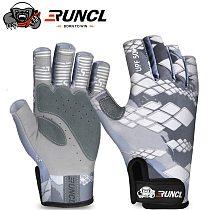RUNCL Summer Fishing Gloves SPF Sun Men Hands Protection Gloves Breathable Outdoor Sportswear Gloves Carp Fishing Apparel Pesca