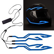Cool Fashion Reflective Helmet Light Strips Night Motorcycle Riding Signal Flashing Strip DIY LED Luminous Sticker