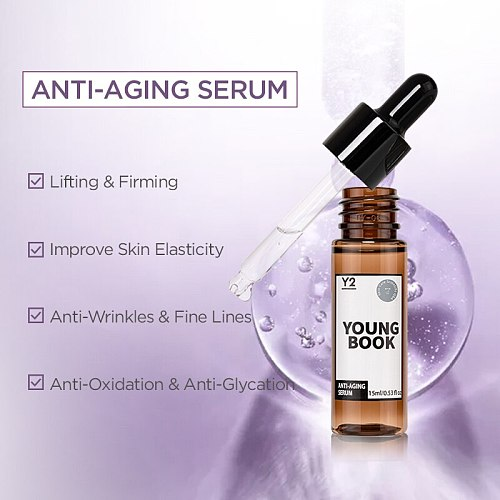 YOUNGBOOK Anti-Aging Serum Lifting Firming Collagen Facial Essence Remove Wrinkles Relieve Fine Lines Tighten Skin Care 15ml