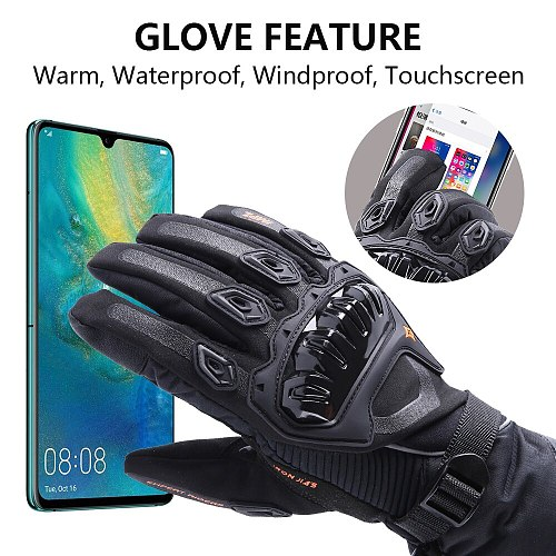 IRON JIA'S Motorcycle Gloves Men Waterproof Windproof Winter Moto Gloves Touch Screen Gant Moto Guantes Motorbike Riding Gloves