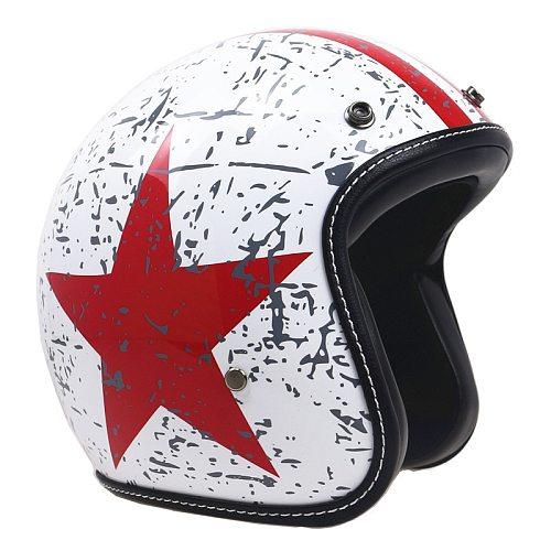 Dot Approved Jet Helmet Motorcycle Open Face Helmet Retro Personalized Motorbike Vintage Helmet Capacete Moto Vespa Helmet