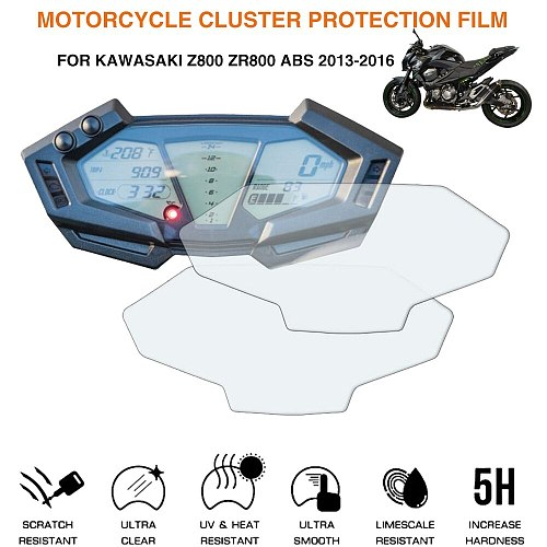 For Kawasaki Z800 Z 800 2012 2013 2014 2015 2016 2017 2018 Motorcycle Cluster Scratch Protection Film Screen Protector
