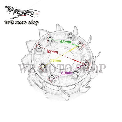 GY6 50cc 125cc 150cc High Flow Performance Racing Cooling Fan for 139QMB 152QMI 157QMJ Scooter Moped ATV Go-Cart DIO ZX