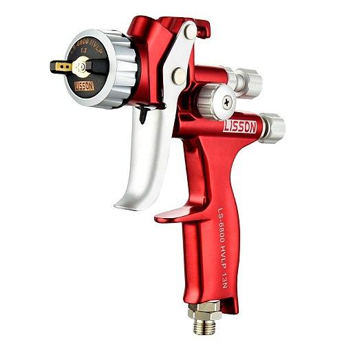 LS6800 Professional Red Spray Guns To Paint Car Automotive Refinish Varnish FurnitureTopcoat Clearcoat Air Pistol Pneumatic Tool