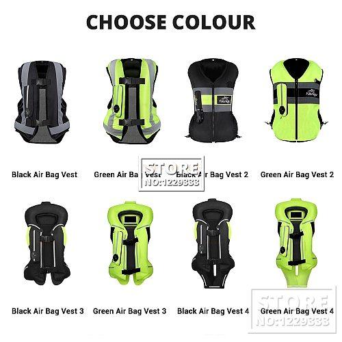 NEW Motorcycle Airbag Vest Men Motorcycle Jacket Reflective Motocross Air Bag Moto Vest Protective Black Fluorescent S-3XL