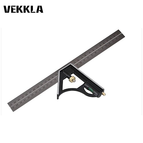 3 in1 Adjustable Multi Combination 300mm Stainless Steel Protractor Mitre Angle Finder Positioner Level Ruler Measuring Tool