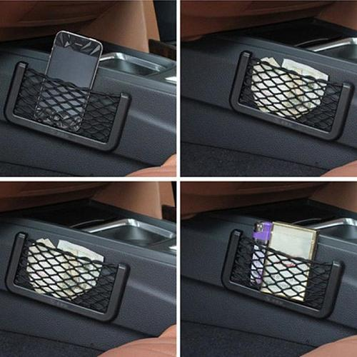2pc Mesh Trunk Car Organizer Net Goods Universal Storage Rear Seat Back Stowing Tidying Auto Accessories Car Storage Bag Styling