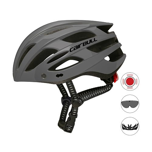 Cycling Bike Helmet With Tail Light Removable Visor And Goggles Safety Outdoor Helmet Bicycle Helmet For Men Women