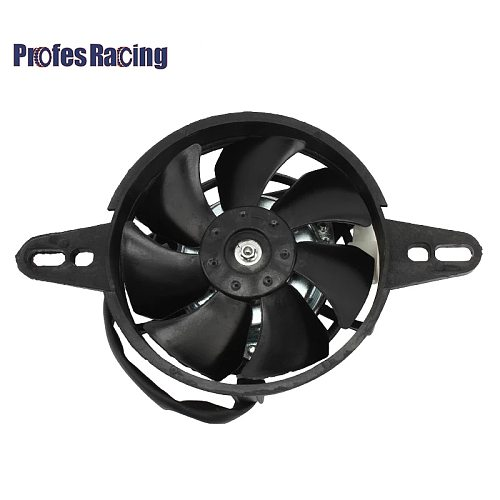 Motorcycle Cooling fan Oil Cooler Electric Radiator Engine Radiator Fit for 150cc 200cc 250cc ATV Quad Go Kart Buggy Motocross