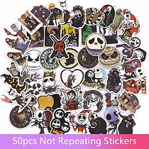 50pcs Tim Burton's Corpse Bride Stickers Nightmare Before Christmas Motorcycle Phone Laptop Graffiti Stickers Decals gift toys